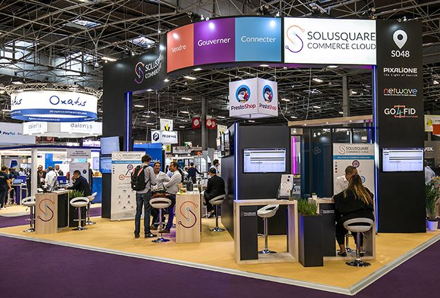 Stand SOLUSQUARE - salon Paris Retail Week 2019